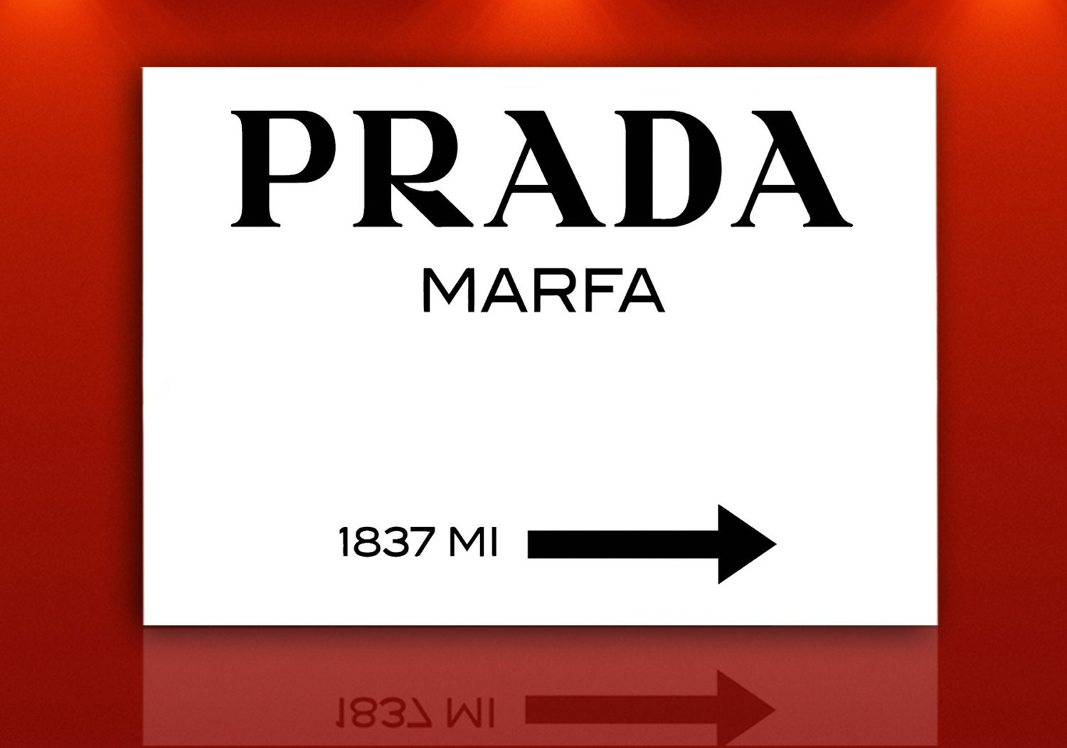 80 x 60 cm rahmen prada marfa gossip girl print auf leinwand. Black Bedroom Furniture Sets. Home Design Ideas