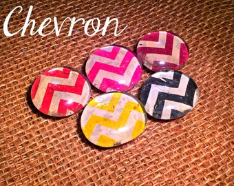 Chevron Glass Bubble Magnets (Multiple Designs)-Ready to Ship!