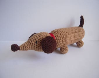 Crocheted Stuffed Amigurumi Dachshund Wiener Dog