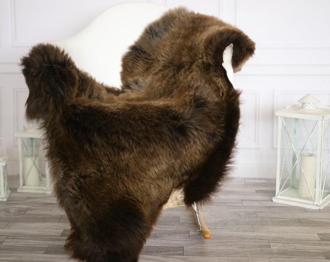 Sheepskin Rug | Real Sheepskin Rug | Shaggy Rug | Chair Cover | Sheepskin Throw |Brown Sheepskin | Home Decor | #HERMAJ52