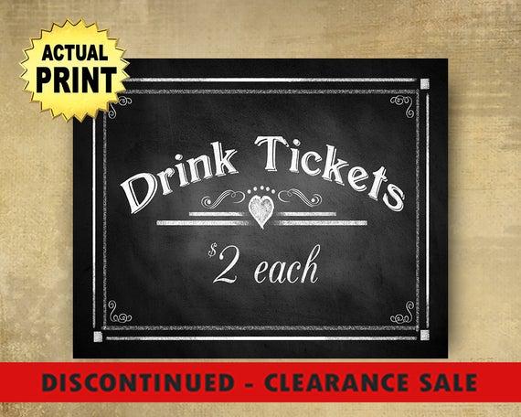 CLEARANCE Drink Tickets wedding sign, Bar signs, drink ticket signs, wedding bar sign, rustic wedding, vineyard weddings, bar drinks sign