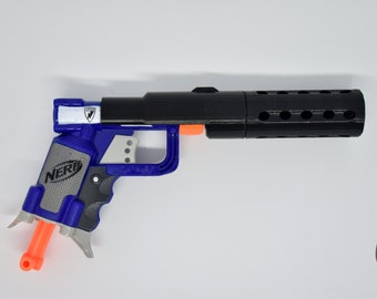 Custom Nerf Jolt Silencer Mod Kit | Steampunk gun | Custom Nerf Gun |  Cosplay Gun