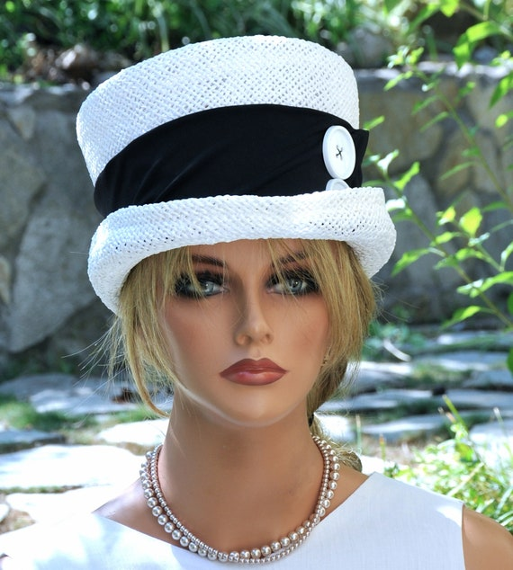 Kentucky Derby Hat, Wedding Hat, Derby Hat, Top Hat, Formal Hat, Mad Hatter, Occasion Hat, Black and White Hat