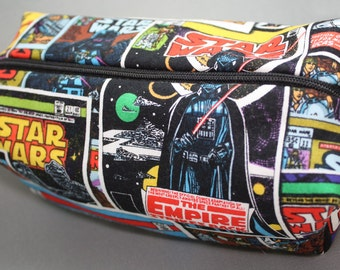Boxy Makeup Bag - Star Wars with Zipper - Pencil Pouch