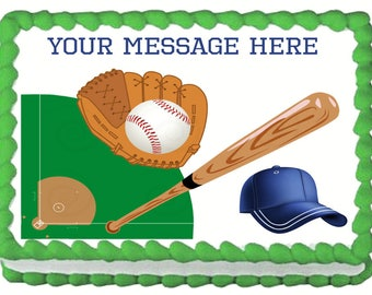 BASEBALL edible cake topper party image