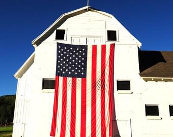 American Flag, Color Photograph, Park City, Utah
