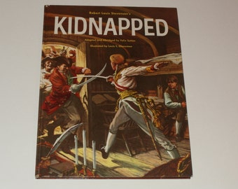 Vintage 1960 Childrens Book-Kidnapped by Robert Louis Stevenson-Hard cover-Collectible