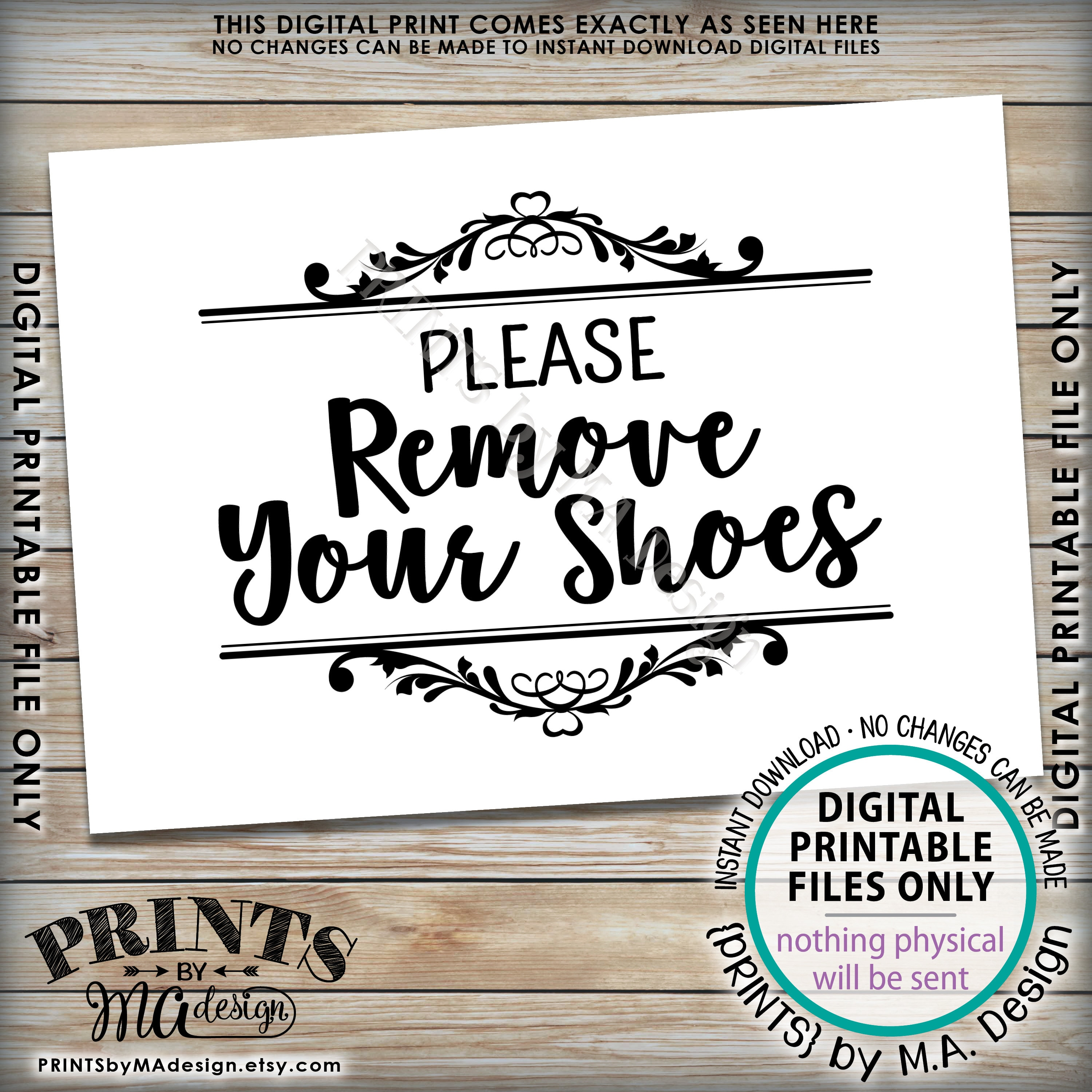 photo relating to Please Remove Your Shoes Sign Printable referred to as Final Remember to Get rid of Your Sneakers Indication Printable #VD67