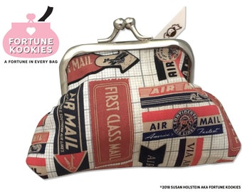 COIN PURSE Postal Mail theme--Fortune Kookies a fortune in every purse
