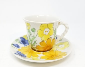 Rare Ernestine Salerno tea cup and plate P3