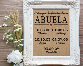 Abuela etsy abuela gift gift for spanish mom spanish mom gift abuela birthday gift gift for grandma regalo para abuela gift from daughter to mom negle Choice Image