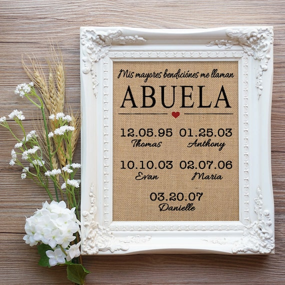Abuela Mothers Day Gift Gift for Spanish Mom Spanish Mom