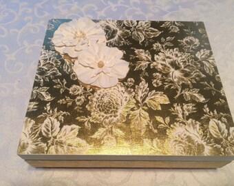 Gold embossed memory box!