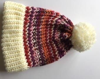 Handmade Pom Pom hat
