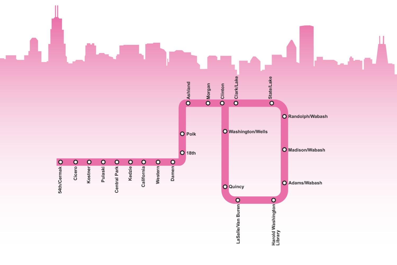 Pink Map printable street maps