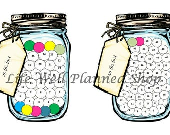 Color Your Weight Loss - Mason Jar A5 size