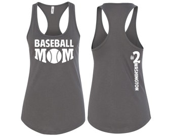 Baseball Mom, Baseball Mom Tank Top, Baseball Mom Shirt, Baseball Mom Racerback, Baseball Mom Tank, Mom Gift, Wife Gift