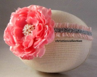 Baby Headband-Toddler Headband-baby bow Headband-Infant Headband-Wedding-Flower Girl-Photo Prop-Couture-Baby Headbow-Customizing,Christening