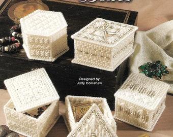 Ribbon & Pearls Boxes, Annie's Attic 871432