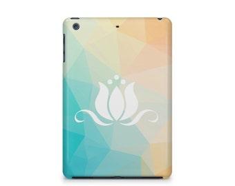 Lotus Geometric pattern iPad case, Apple iPad hard shell case, ipad Mini, ipad Air, iPad 2,3,4