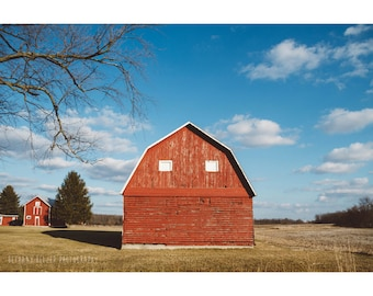 Red Barn Rustic Photography Landscape Photography Architecture Photography Rustic Barn Michigan Art Rural Photography Red Art Rural Michigan