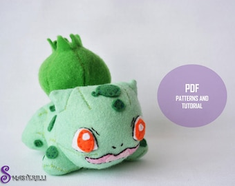 Pokemon Bulbasaur Toy Sewing Patterns and Tutorial