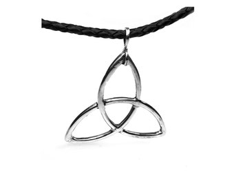 Triquetra necklace-Sterling Silver-tribal series 351