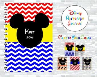 Disney autographs, Disney autograph book, Walt Disney World autographs, autograph journal, Mickey Mouse, Mickey Mouse book, autographs