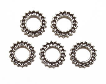 5 connectors silver plated 18-24 mm hole