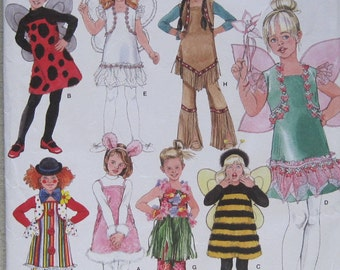 Simplicity 2795. Costumes for Girls, sizes 3-8. Cute and easy to make. Pattern is uncut and factory folded.