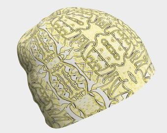 Vanilla Armor beanie, chemo cap, surgical cap, hair loss coverup, boho hat, sun hat, skater's cap, gift hat