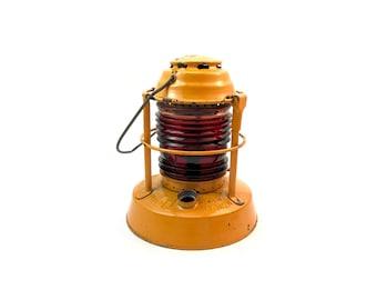 DIETZ LANTERN //  Vintage Yellow 'Dietz Night Watch' Kerosene Lantern, Syracuse New York
