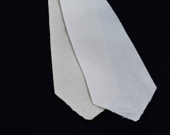 """PRE-CUT 2 5/8"""" wide - 2 layer cotton + wool necktie interfacing / interlining, AC Ter Kuile, finest available, Made Netherlands"""