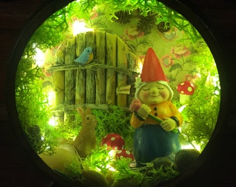 Woodland Forest Diorama ~ Night light with timer