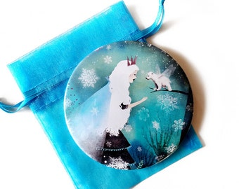 Snow Queen and Fairy Bear - Pocket Mirror