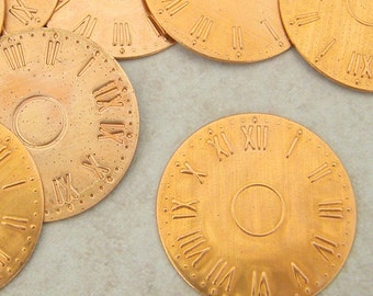 10 Solid Copper Watch Face Blanks 25mm
