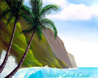 Napali Coast Fine art Giclee print by VICKIE PETERS