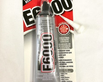 E6000 Industrial Strength Adhesive - 2.0 fl oz / 59.1mL Tube - Black with BONUS Nozzle