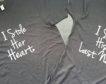 Wedding, He Stole My Heart Matching Shirts