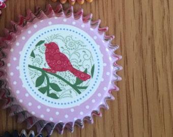 Songbird cupcake liners - 50pcs