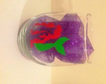 Ariel Little Mermaid wine glass, Ariel wine glass, stemless wine glass, the little mermaid, wine glass