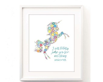 Unicorn Artwork, Unicorn Lover, Unicorn Lover Art, Unicorn Print, Kids Unicorn Art, Unicorn Nursery Art, Colorful Unicorn, Baby Unicorn