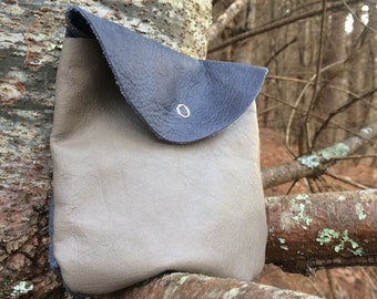 Recycled Leather Small Pouch