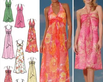 EVENING DRESS Sewing Pattern - Plus Size Design Your Own Gown Simplicity 4577