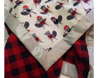 Lumberjack baby blanket, receiving blanket, security blanket, flannel baby blanket, lumberjack bedding, buffalo plaid baby
