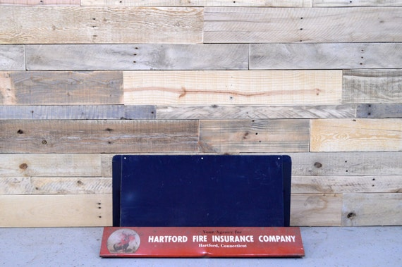 Vintage Hartford Fire Insurance Company Display, Hartford Connecticut, Countertop Advertising Display