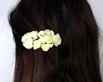 Cream roses hair clip bunch wedding  accessories bridesmaids