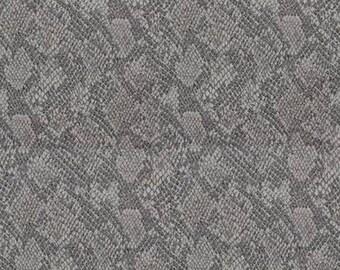 Fabric, snake skin, Genius, gray, jacquard, Thévenon