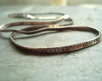 Sterling Silver Flat Snake Chain, 17 Inches, Vintage Unisex Jewelry