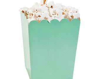 12/ Mint Popcorn Boxes / favor boxes / treat boxes